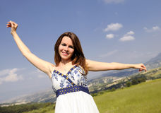 Attractive beautiful young women smiling Royalty Free Stock Photo