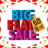 An attractive big sale poster Stock Photo