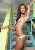 Attractive bikini model Royalty Free Stock Images