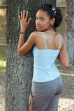 Attractive black girl Stock Images