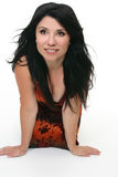 Attractive black haired woman Royalty Free Stock Photos