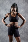 Attractive Black teen girl in sportswear. stock photography