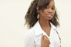 Attractive black woman Royalty Free Stock Photos