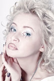 Attractive blond beauty portrait Royalty Free Stock Photography