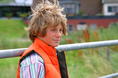 Attractive blond boy Stock Images