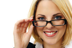 Attractive blond business woman Royalty Free Stock Photo