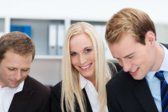 Attractive blond businesswoman Stock Images