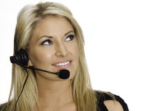 Attractive blond call center rep Stock Image