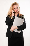 Attractive blond caucasian business woman Royalty Free Stock Photography