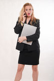 Attractive blond caucasian business woman Stock Photography