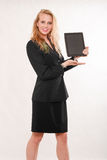 Attractive blond caucasian business woman Royalty Free Stock Photo