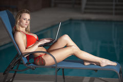 Attractive blond caucasian woman Stock Photography