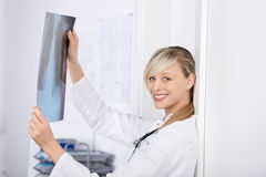 Attractive blond doctor Royalty Free Stock Photography