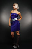 Attractive blond in dress Royalty Free Stock Image