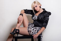Attractive blond girl fashion Royalty Free Stock Images