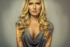 Attractive blond girl portrait Royalty Free Stock Images
