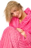Attractive blond girl with wet hair Stock Images