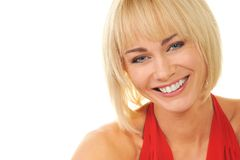 Attractive blond woman Stock Photo
