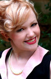 Attractive Blond Woman. Closeup of young blond woman outside Royalty Free Stock Image