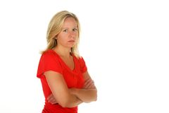Attractive blond woman Royalty Free Stock Image