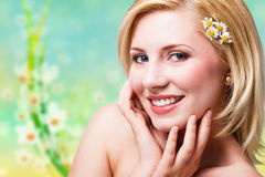 Attractive blond woman Stock Photos
