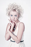 Attractive blond woman with original make up Royalty Free Stock Photos