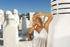 Attractive blond woman outdoors Royalty Free Stock Photo