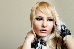 Attractive blond woman portrait Royalty Free Stock Images