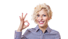 Attractive blond young business woman Stock Photo