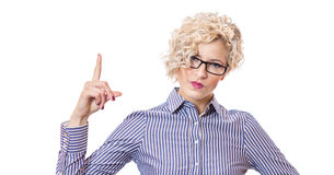 Attractive blond young business woman Royalty Free Stock Image