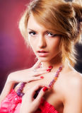 Attractive blonde Stock Images