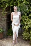 Attractive Blonde Bride Stock Photo
