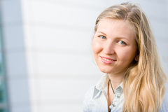 Attractive blonde business woman Royalty Free Stock Photos