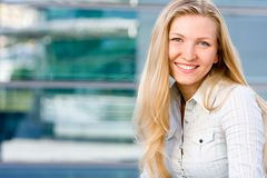 Attractive blonde business woman Stock Photography