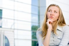 Attractive blonde business woman Royalty Free Stock Photo
