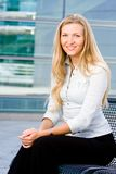 Attractive blonde business woman Royalty Free Stock Image