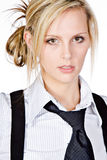 Attractive Blonde Business Woman Royalty Free Stock Images