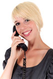 Attractive blonde businesswoman Stock Photos