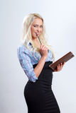 Attractive blonde businesswoman Royalty Free Stock Photos