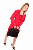 Attractive blonde caucasian business woman Royalty Free Stock Images