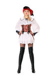 Attractive blonde dressed as pirates Royalty Free Stock Photography