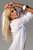 Attractive blonde fashion girl Stock Photo