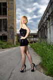 Attractive blonde fashion girl Royalty Free Stock Photo