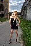 Attractive blonde fashion girl Stock Image