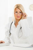 Attractive Blonde Female Doctor Stock Photography