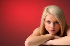 Attractive Blonde Girl Stock Images