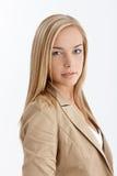 Attractive blonde girl stock photos