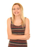 Attractive blonde girl smiling Royalty Free Stock Photos