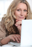 Attractive blonde haired woman Royalty Free Stock Images