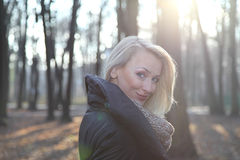 Attractive blonde lady posing Royalty Free Stock Photography